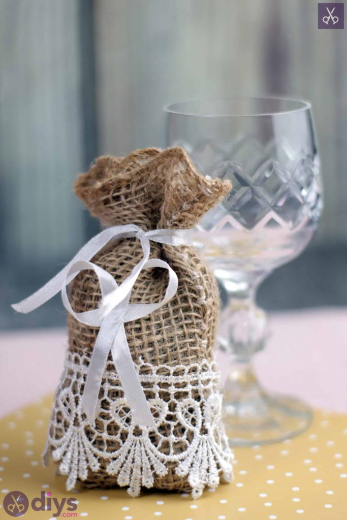 Diy rustic wedding favour bag farmhouse