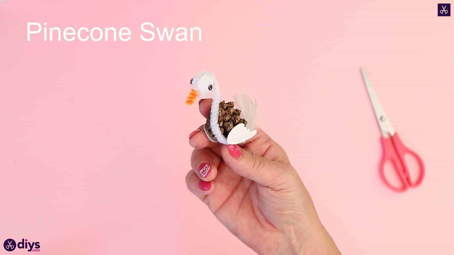 Diy simple pinecone swan