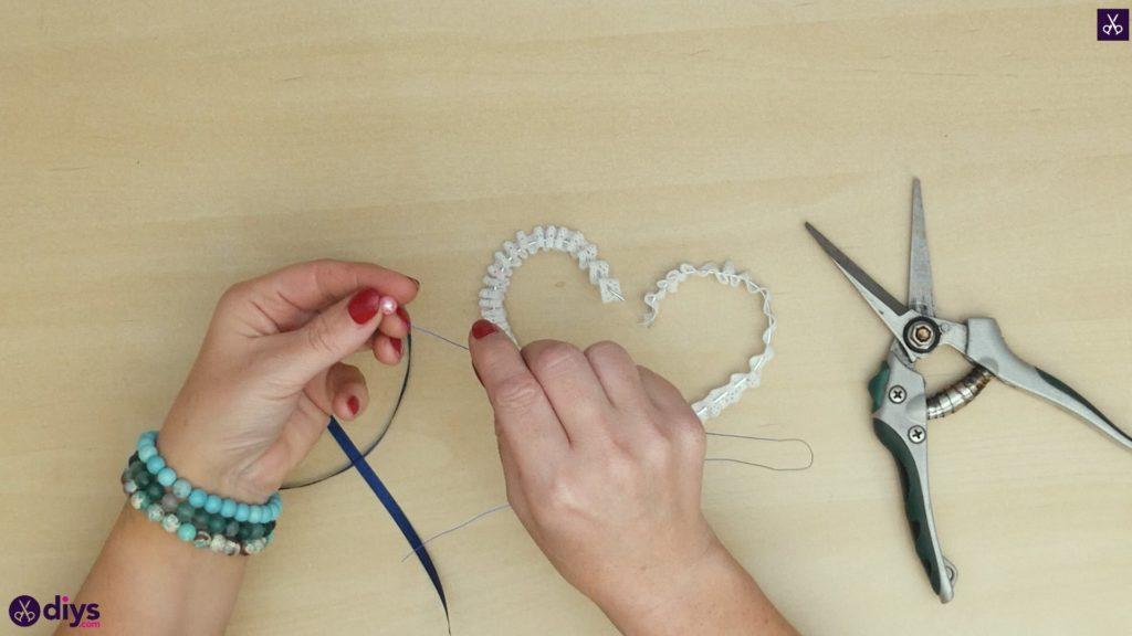 Diy wedding heart decor step 4a