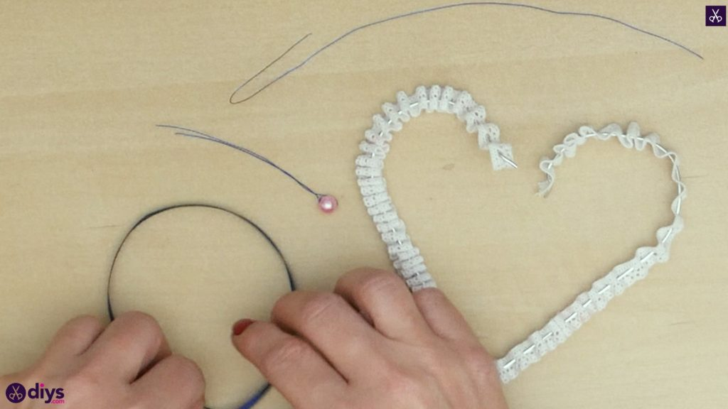 Diy wedding heart decor step 5
