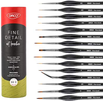 Daco detail paint brush set