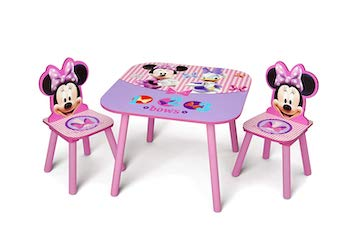 Delta children minnie mouse table and chair set