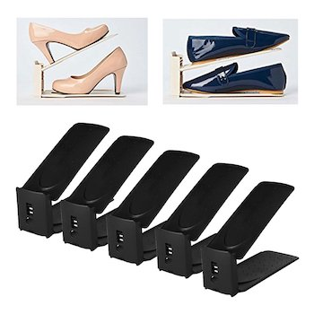 Harra home premium 3 level adjustable shoe slots organizer