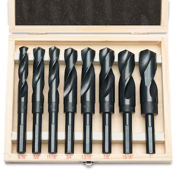 Hiltex 10005 hss silver and deming industrial drill bit set