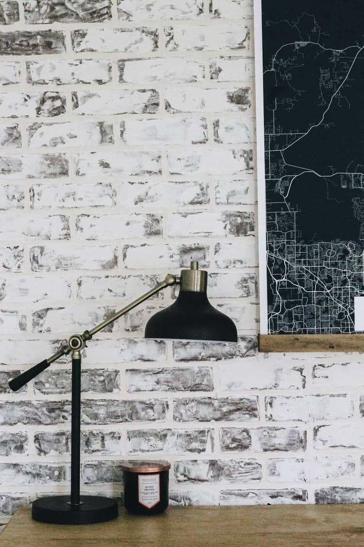 How to diy faux brick wall