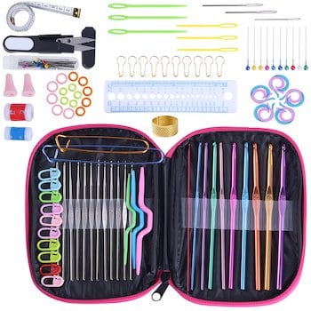 Koknit crochet hook set with 100 pieces including yarn needles