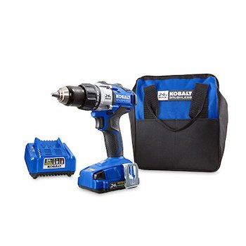 Kobalt 24 volt max lithium ion (li ion) 1:2 in cordless brushless drill