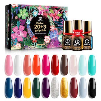 Mefa gel nail polish 23 piece gifts box set