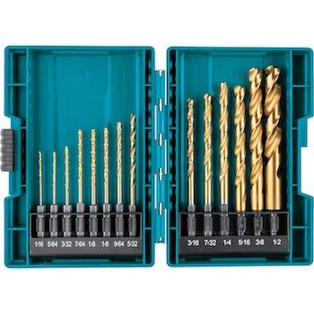 Makita b 65399 impact gold 14 pc titanium drill bit set