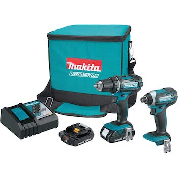 Makita ct225r 18v lxt lithium ion compact cordless 2 piece combo kit