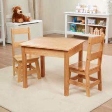 Melissa & Doug Solid Wood Table & Chairs
