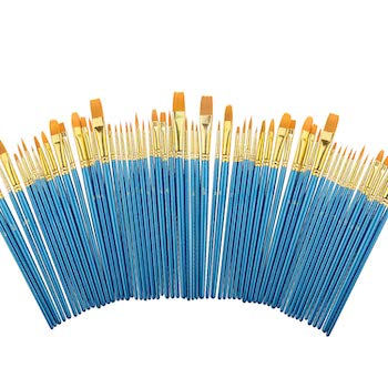 Miniature paint brushes set 6 pack by heartybay
