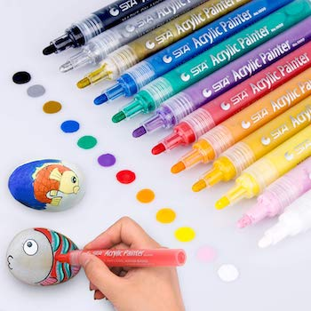 Morfone acrylic paint marker pens