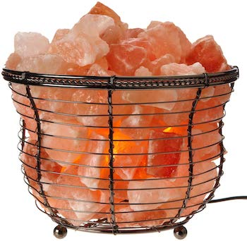 Natural himalayan basket salt lamp