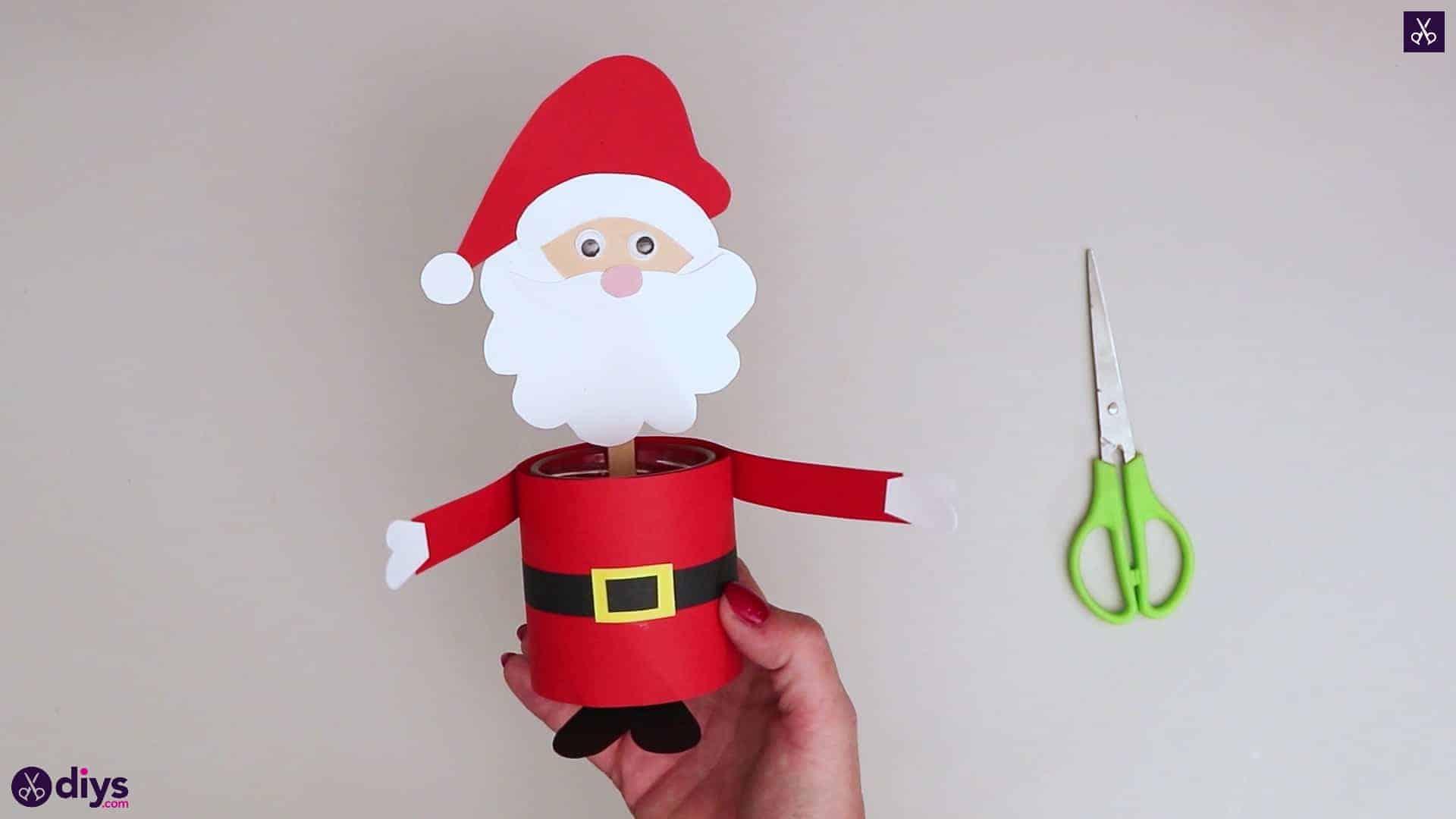 Paper santa candy holder