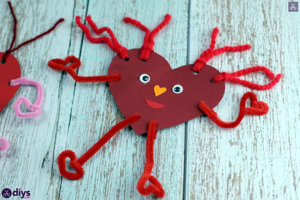 Paper valentine creature