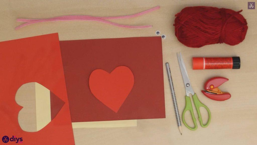 Paper valentine creature cutting