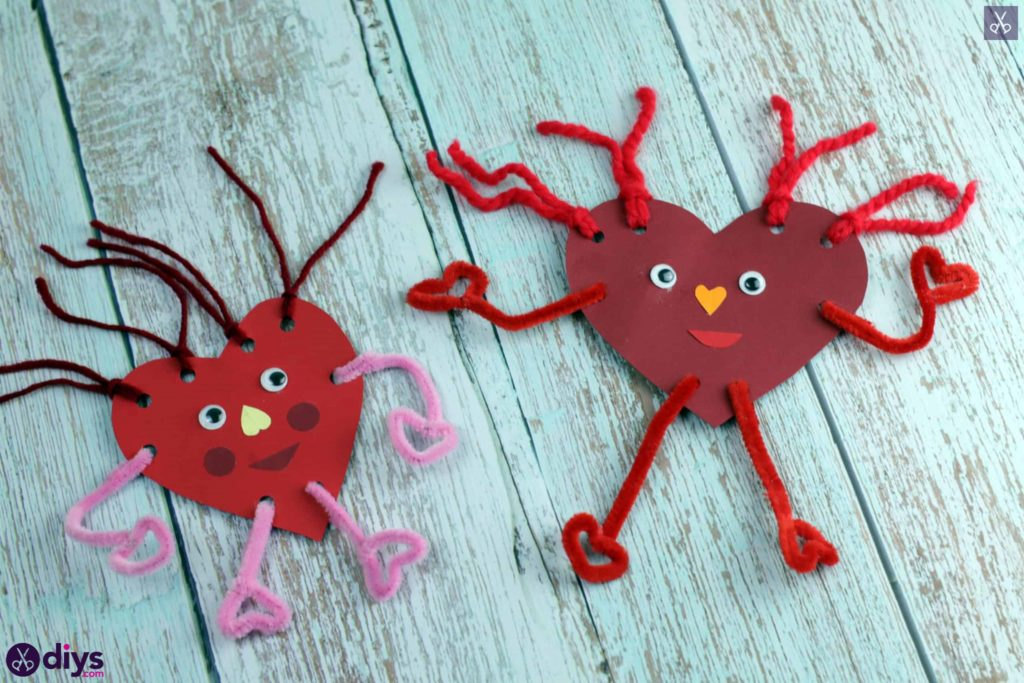 Paper valentine creature decor