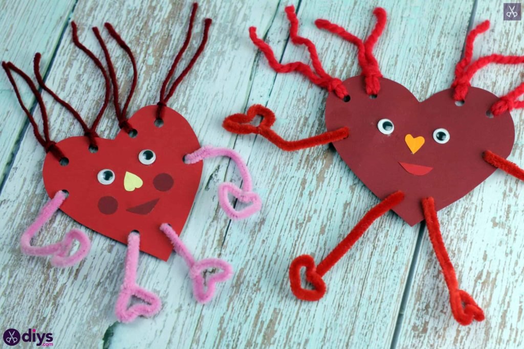 Paper valentine creature diy for kids