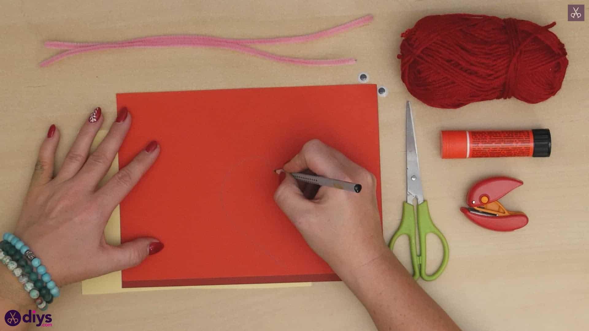 Paper valentine creature draw
