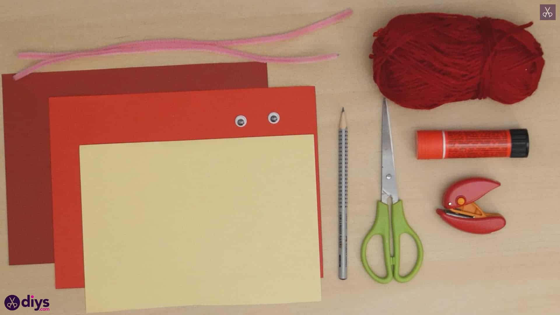 Paper valentine creature materials