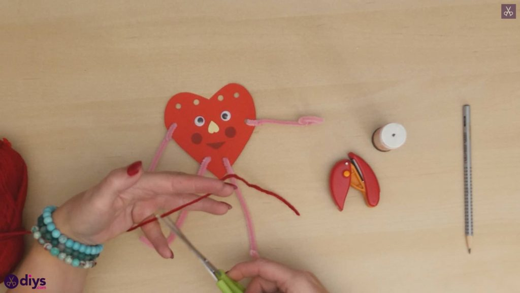 Paper valentine creature step 10