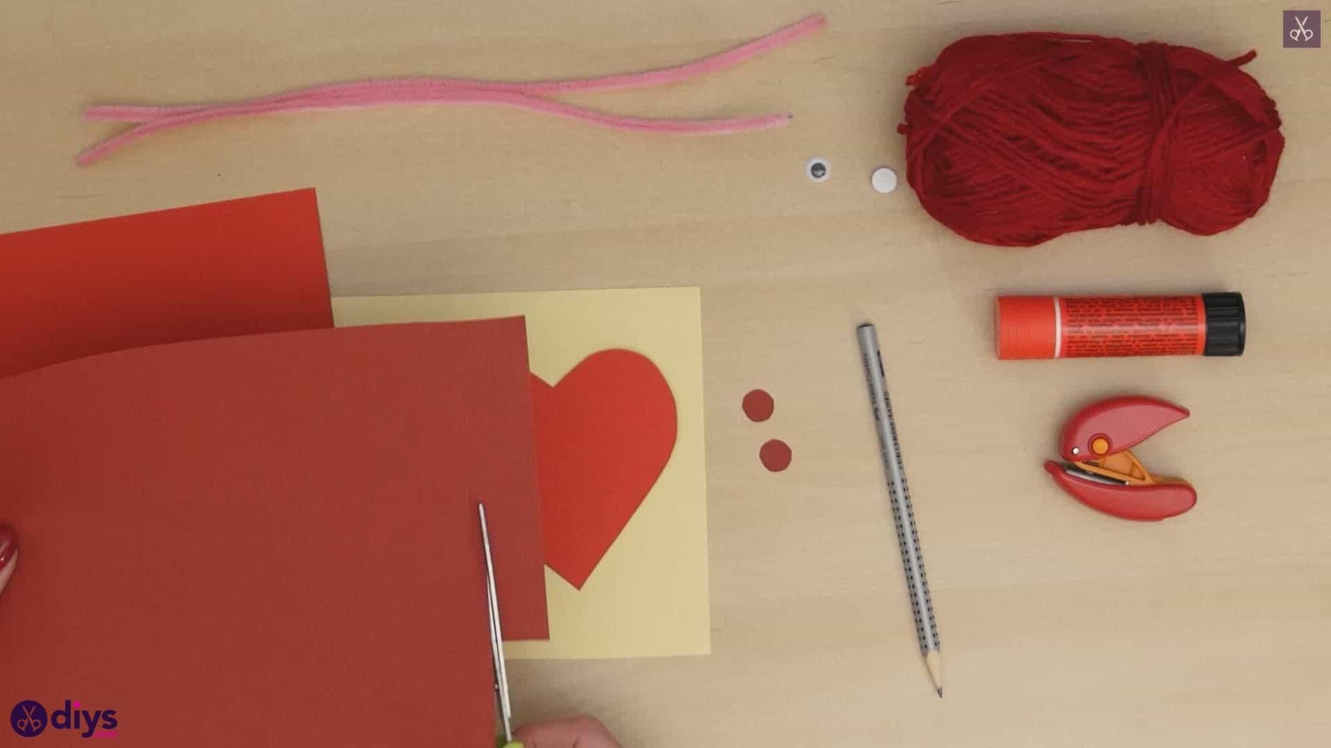 Paper valentine creature step 3