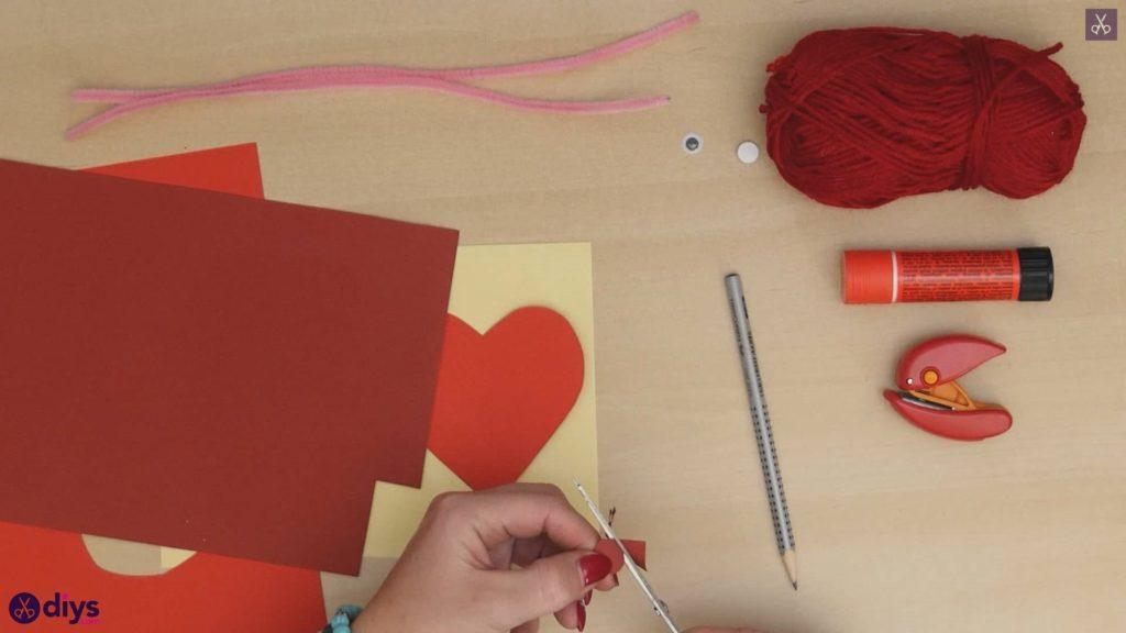 Paper valentine creature step 3a