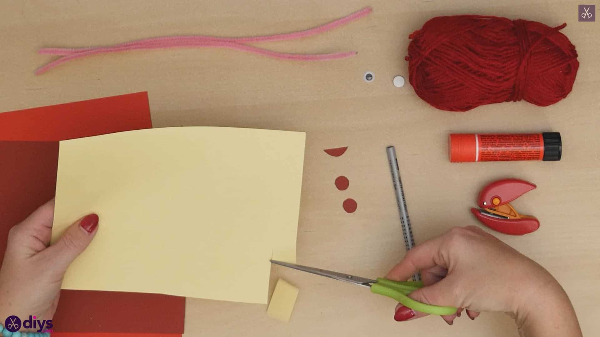 Paper valentine creature step 5