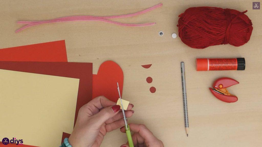 Paper valentine creature step 5b