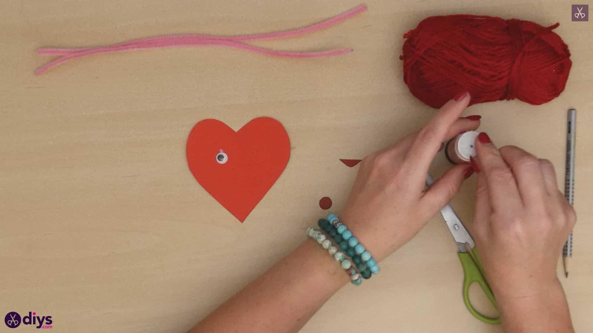 Paper valentine creature step 6