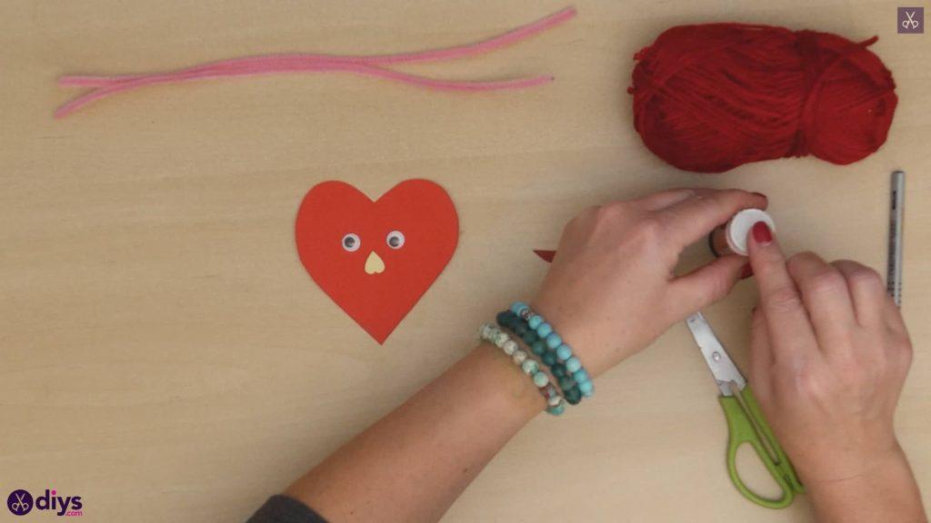 Paper valentine creature step 6a
