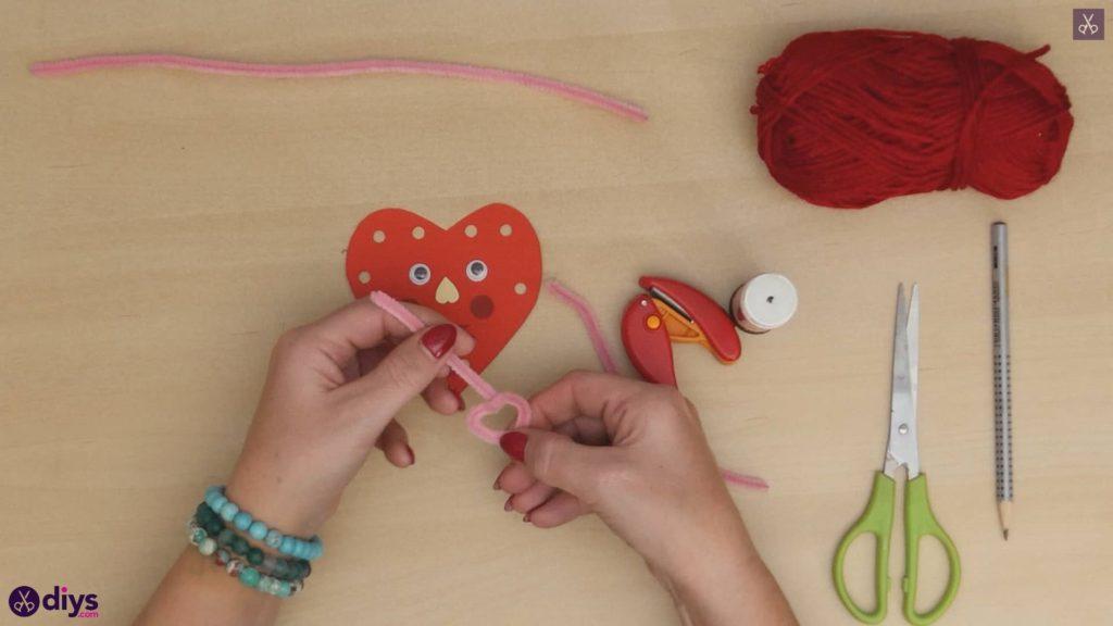 Paper valentine creature step 8c