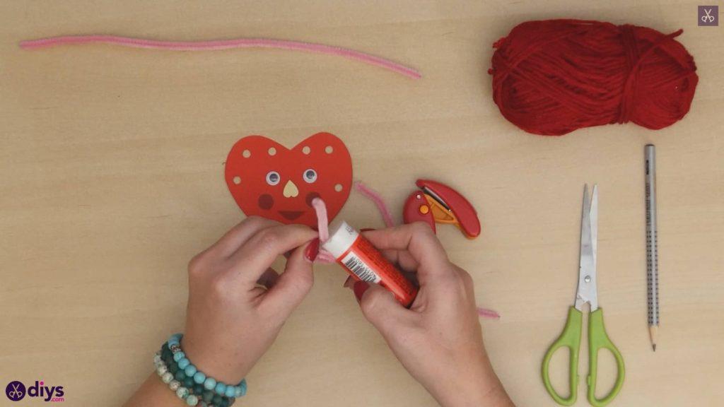 Paper valentine creature step 8d