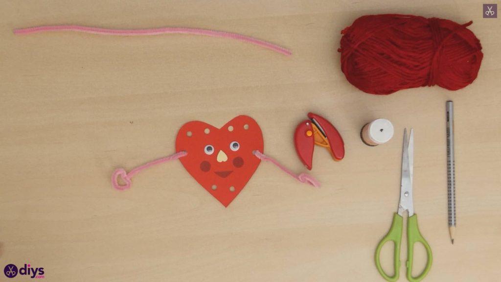 Paper valentine creature step 8f