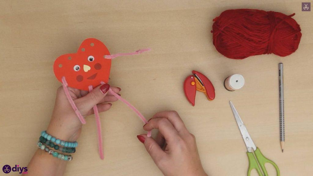 Paper valentine creature step a