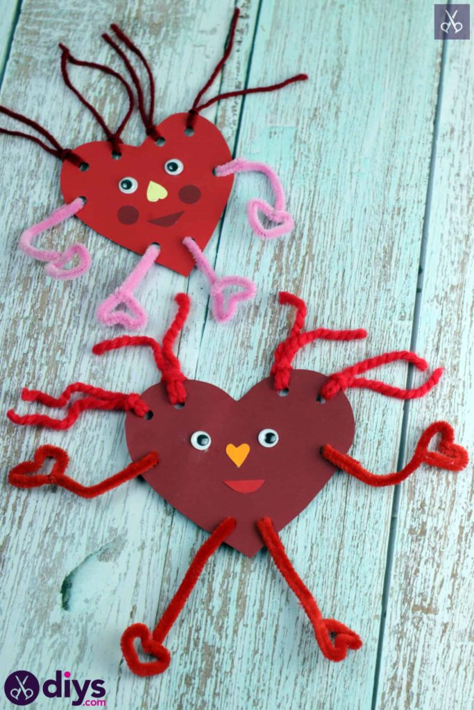 Paper valentine creatured craft for kids