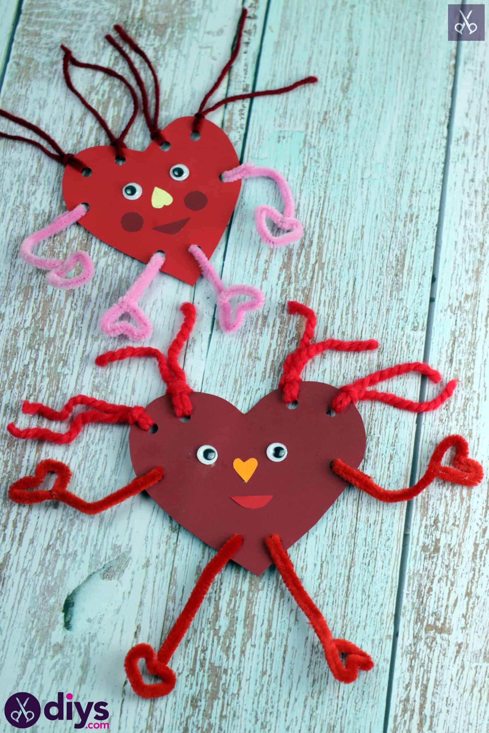 Paper valentine creatured craft for kids