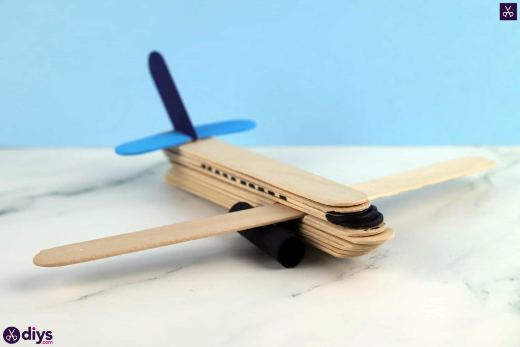 Popsicle stick airplane decor for kids