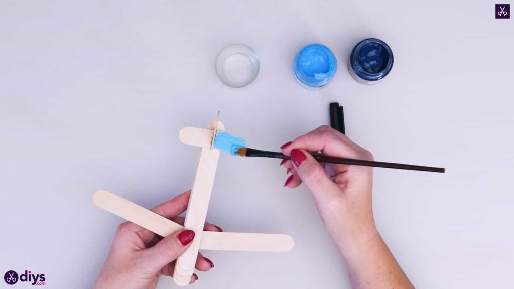 Popsicle stick airplane step 6