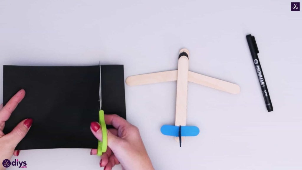 Popsicle stick airplane step 8