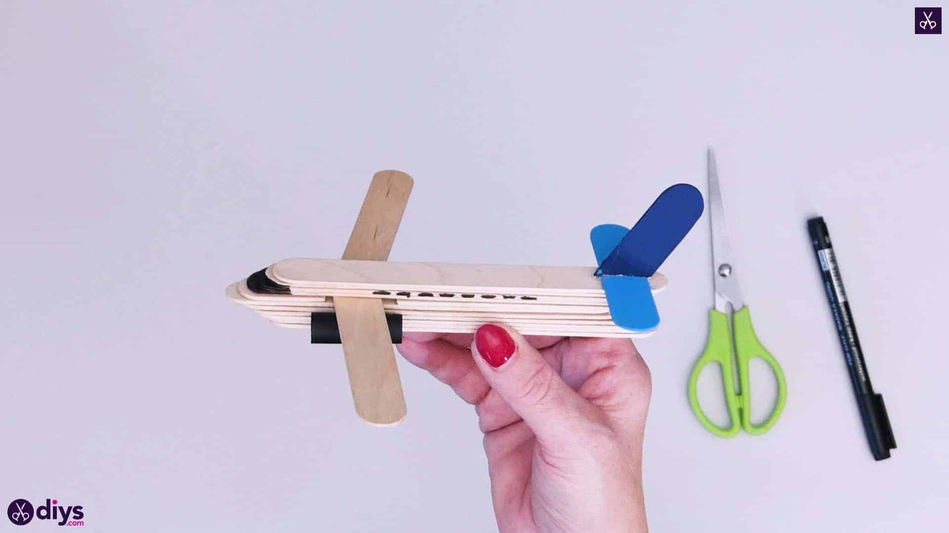 Popsicle stick airplane step 8f