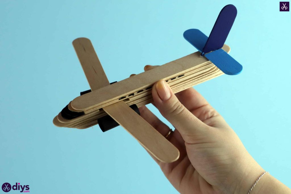 Popsicle stick airplane step 8j