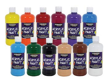 Sargent art 24 2498 count artist quality acrylic paint set