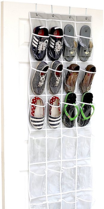 Simplehouseware crystal clear over the door hanging shoe organizer