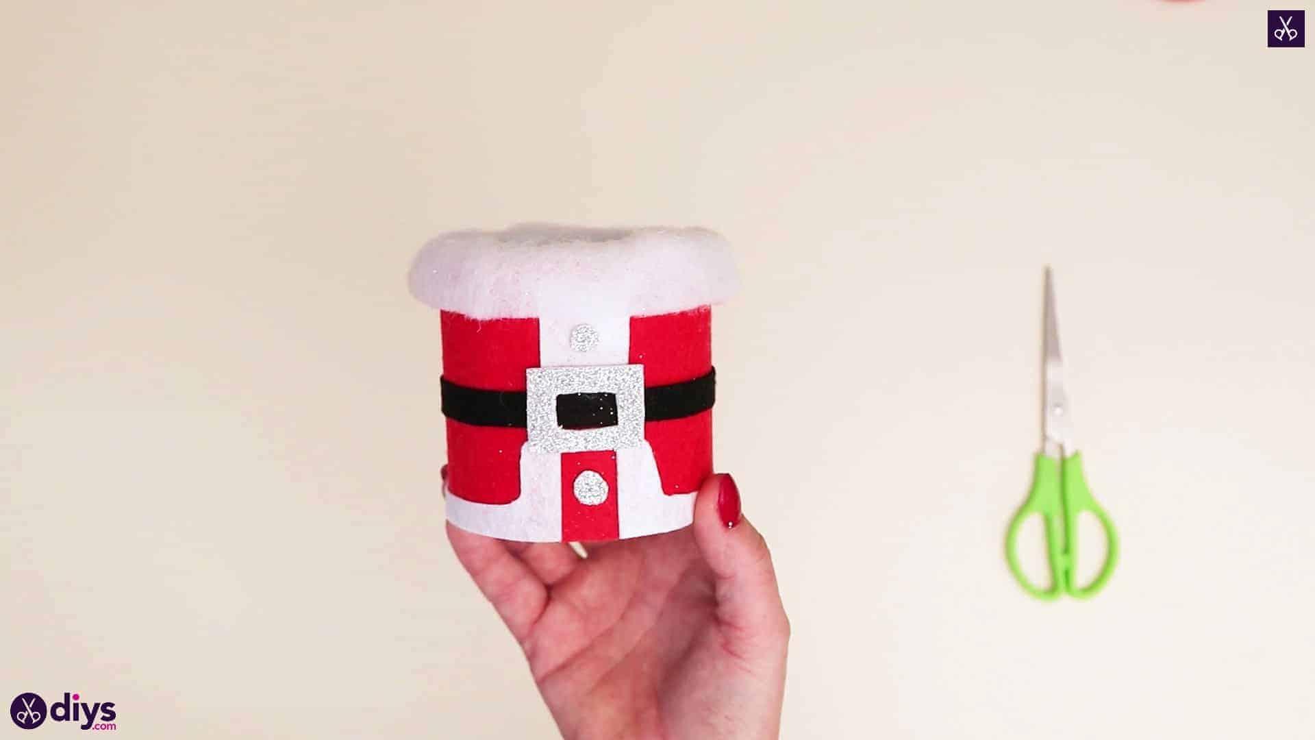 Tin can santa candy holder
