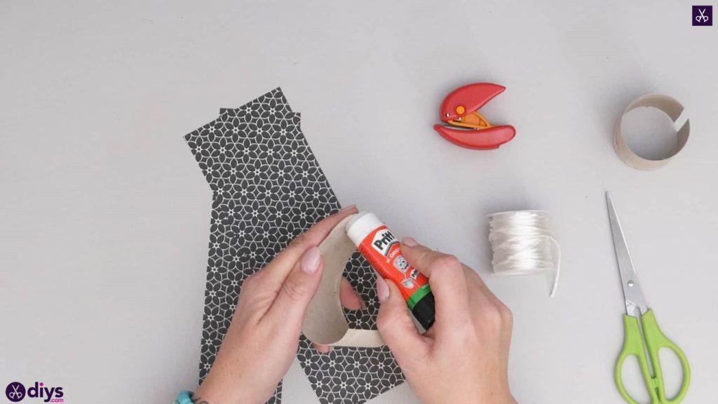 Toilet paper roll bracelet step 3