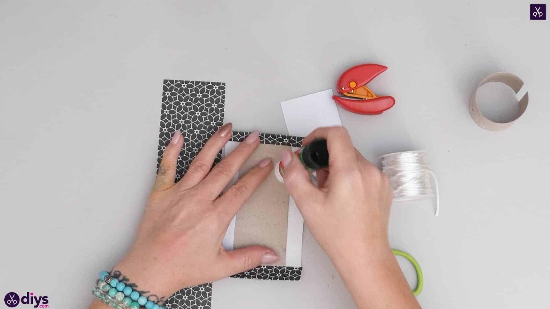 Toilet paper roll bracelet step 3d