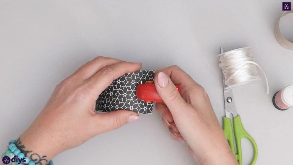 Toilet paper roll bracelet step 5