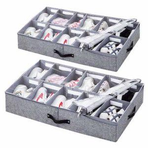 Vailando Shoe Storage Organizer with Adjustable Dividers
